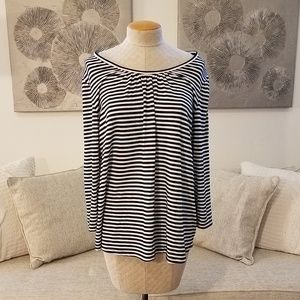 Nordstrom Sejour Striped Scoop Neck Tee sz 2X